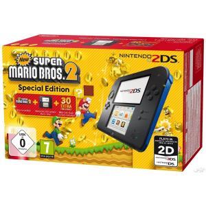 Nintendo 2DS Edición Especial New super Mario Bros 2 Negra y Azul