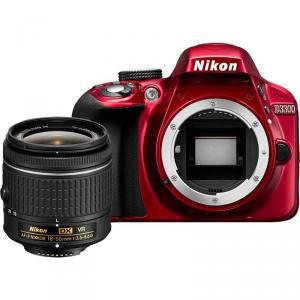 Cámara Réflex Nikon D3300 + AF-P 18-55mm VR Roja