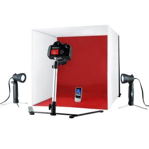 Caja de luz portátil con dos focos (Tamaño 50x50cm)