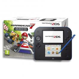 Nintendo N2ds Pack Juego Mario Kart 2 Negro Y Azul