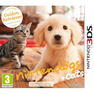 Juego Nintendo 3DS Golden Retriever Nintendogs + Cats