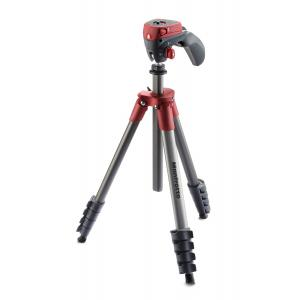 Trípode Manfrotto Compact Action Rojo MKCOMPACTACN-RD