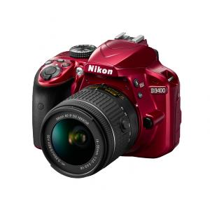Cámara Réflex Nikon D3400 + AF-P 18-55mm VR Roja