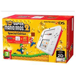 Nintendo 2DS Edición Super Mario Bros 2 Rojo y Blanco