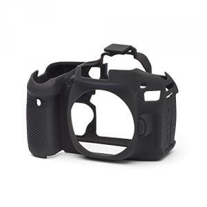 Funda silicona EasyCover para Canon EOS 80D negro