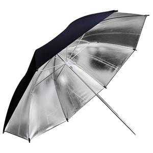 Paraguas blanco y plateado Metz 90cm