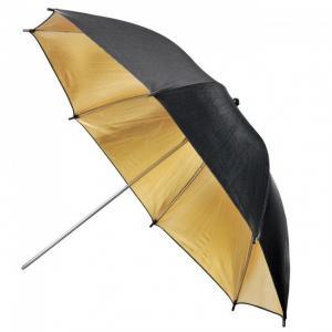 Paraguas Negro y Dorado Metz 90cm