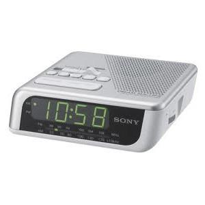 Radio Reloj Sony ICFC205 PLATA