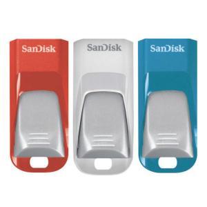 Pendrive Sandisk 16GB Cruzer Edge Pack 3 (azul, rojo, blanco)