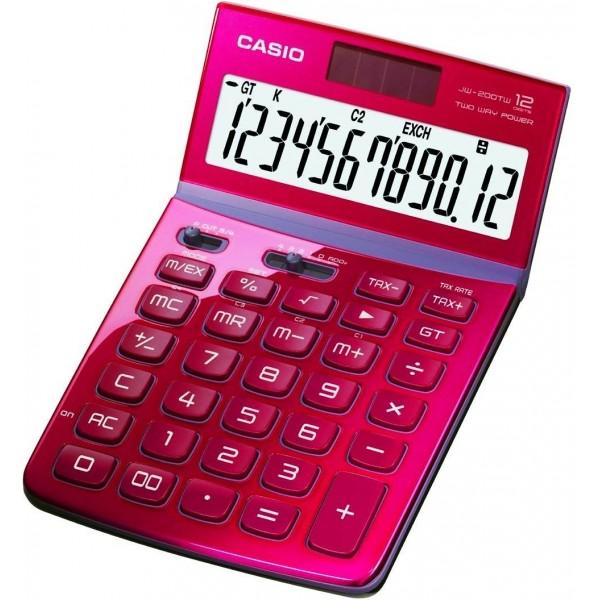 Calculadora Casio JW200TW rojo