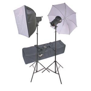 Kit de estudio con ventana y paraguas Ultrapix LB-2201