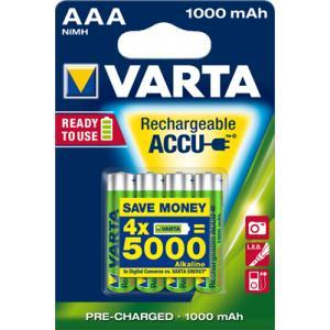 Pila recargable Varta aaa 1000mah