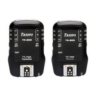Kit emisor receptor Wireless Triopo TR-800 TTL para Canon y Nikon