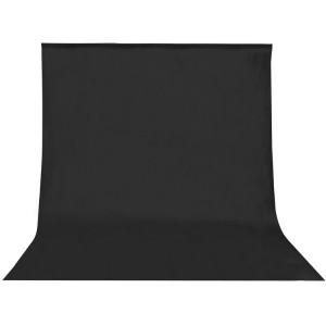 Fondo de tela para kit de estudio negro 3 x 5m