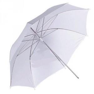 """Paraguas blanco de fibra 60"""""""