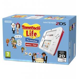 Consola Nintendo 2DS blanca + Tomodachi Life (preinstalado)