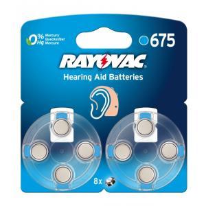 Pila para audifono Rayovac 675