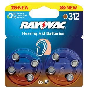 Pila para audifono Rayovac 312