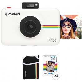 Kit de cámara Polaroid Snap Blanca + 20 hojas + Funda