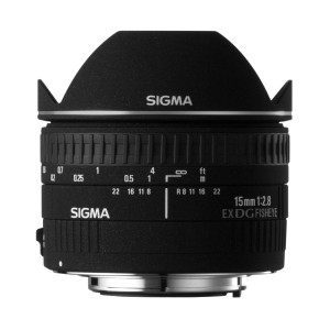 Sigma 15mm f/2.8 EX DG ojo de pez diagonal para Canon