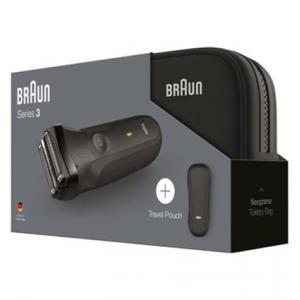 Afeitadora eléctrica recargable Braun Series 3 300s + Bolso