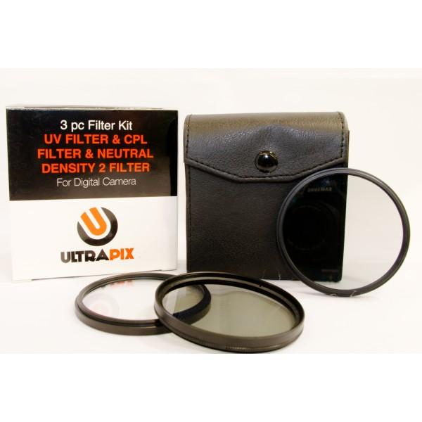 Kit de 3 filtros 62MM Ultrapix: UV, CPL y ND2