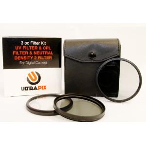 Kit de 3 filtros 77MM Ultrapix: UV, CPL y ND2