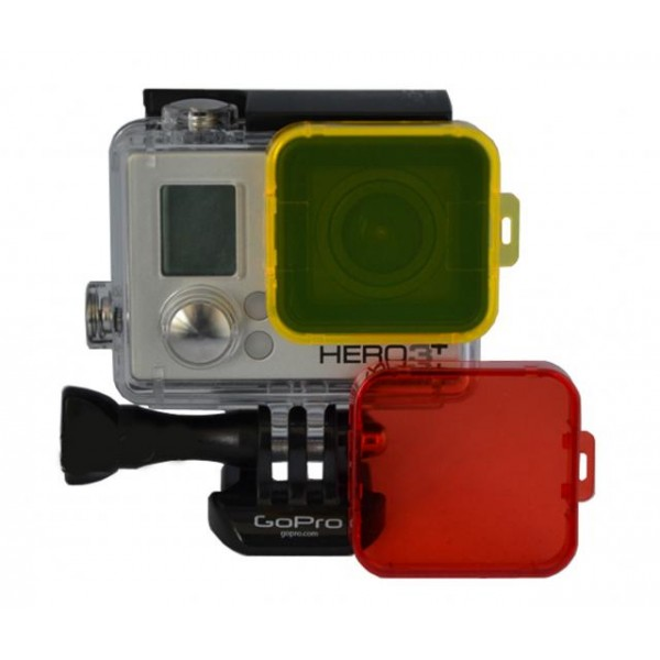 Filtro para buceo color amarillo para GoPro