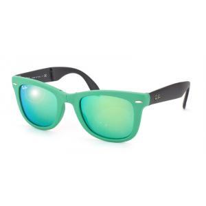 Gafas de sol Ray-Ban wayfarer plegable con lentes flash RB4105/6021-19