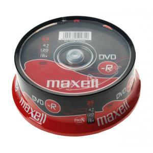 Tarrina DVD-R Maxell Pack 25 unidades