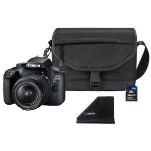 Cámara Réflex Canon EOS 4000D + 18-55mm III + SD 16GB + Bolso + Microfibra