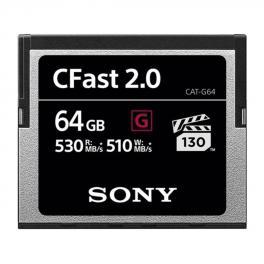 Tarjeta Compact flash Sony CFAST 2.0 Serie G 64GB 530Mb/s