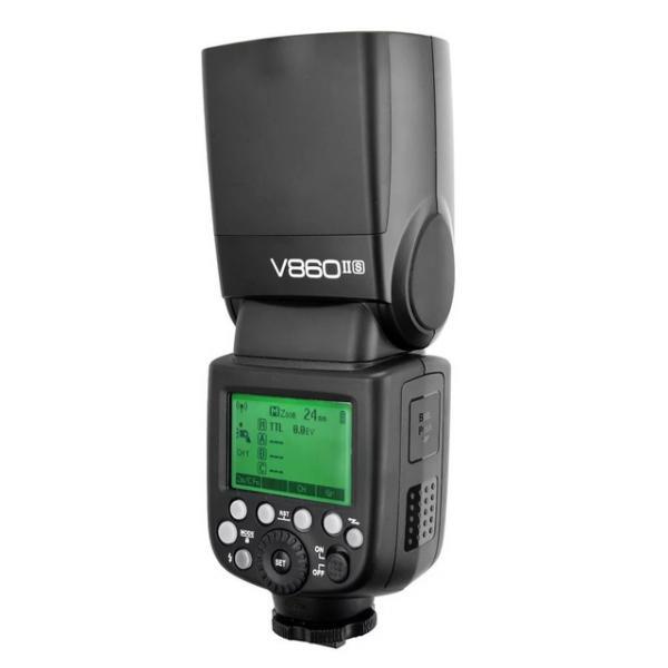 Kit Flash compacto Godox Ving V860II TTL HSS + batería y cargador para Nikon