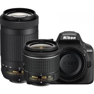 Kit Cámara Réflex Nikon D3400 + 18-55MM + 70-300MM