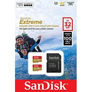 Pack de 2 tarjetas Sandisk Micro SD UHS-I Extreme 100mb/s 32Gb