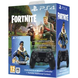Mando inalámbrico Dualshock 4 para PS4 negro + Voucher Fortnite