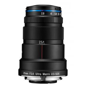 Objetivo LAOWA 25mm f/2.8 2.5-5X Ultra Macro para Canon