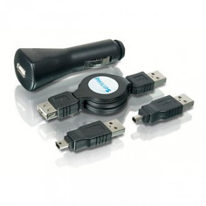 Kit de cargadores USB y auto Philips