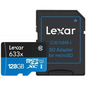 Tarjeta de Memoria Lexar High-Performance microSDHC/microSDXC 633x UHS-I 128Gb