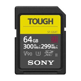 Tarjeta de memoria SD UHS-II Sony serie SF-G Tough 300Mb/s 64gb
