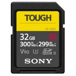Tarjeta de memoria SD UHS-II Sony serie SF-G Tough 300Mb/s 32gb