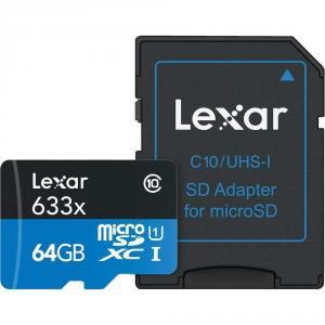Tarjeta de Memoria Lexar High-Performance microSDHC/microSDXC 633x UHS-I 64Gb