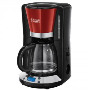 Cafetera de goteo con jarra de cristal Russell Hobbs Colours Plus+ Flame Red 24031-56