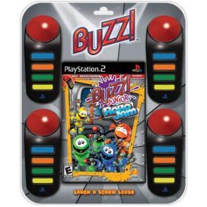 Juego para PlayStation 2 Buzz Junior Robotmanía + mandos buzzers