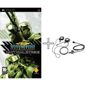 Juego para PSP socom Tactical strike + auriculares