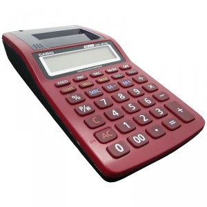 Calculadora Casio HR8TM Rojo