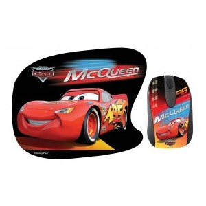 Ratón + Alfombrilla Cars Disney