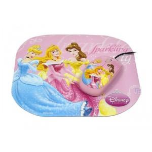 Ratón + Alfombrilla Princesas Disney