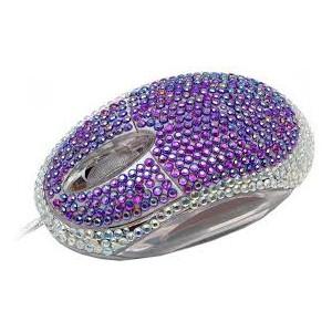 Ratón Satzuma diamante lila
