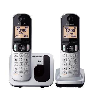 Teléfono inalámbrico digital Panasonic KXTGB212SPS Duo plata y negro